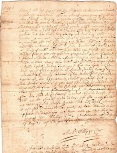 1696, Malden, Mass; Samuel Phipps, Charlestown clerk, writ of attachment signed