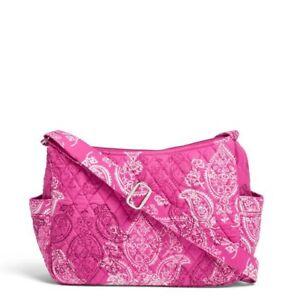 Vera Bradley On The Go Hobo Style Shoulder Bag Stamped Paisley New