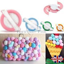 8pcs 4 Sizes Essential Pompom Maker Fluff Ball Weaver Needle Knitting DIY Tool