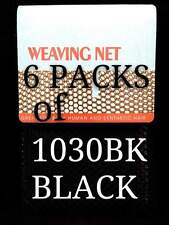 6 LOTS THE CHALLENGER WEAVING NET FOR SYNTHETIC & HUMAN HAIR BLACK 1030BK