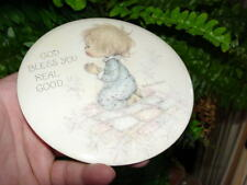 Vintage Betsey Clark - Hallmark Love Dots - Pin Button - God Bless You Real Good