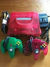 Nintendo 64 Console Watermelon Red  N64 Console 2 controller Immediate shipment!