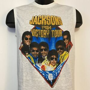 The Jacksons Victory Tour 1984 Officially Licensed Tank Top Size Medium (1)