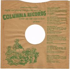 """1940s 10"""" inch Hillbilly Country Columbia Records Record SLEEVE ONLY 78 RPM"""