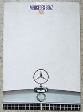 MERCEDES BENZ 250 Car Sales Brochure 1968 #WZ 1235/03/02/1268