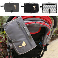 Baby Large Portable Folding Diaper Changing Pad Waterproof Mat Bag Travel