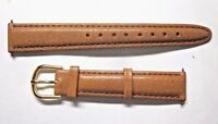 1 Authentic Timex 16mm Watch Band Strap Mid Tan Pigskin Leather Strap Women Men