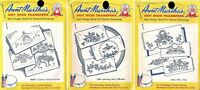 Pillowcases Pillowslips Linens Aunt Marthas Hot Iron Transfers #3285 #3436 #3607