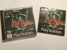 THE BOX INSTRUCTIONS & ARTWORK ONLY FOR PS1 PLAYSTATION 1 EVIL DEAD HAIL TO THE