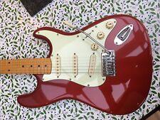 Partcaster Strat Candy Apple Red With Fender Gig Bag