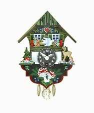 Hanging Wall Clock with Pendulum Black Forest House by Trenkle Uhren of Germany