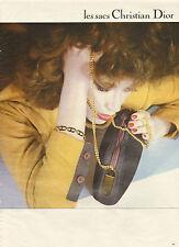 Publicité 1980  Sacs à main Christian Dior collection mode
