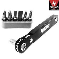 "NEIKO 03044A - 1/4"" Close Quarter Mini Ratcheting Screwdriver and Bit Set"