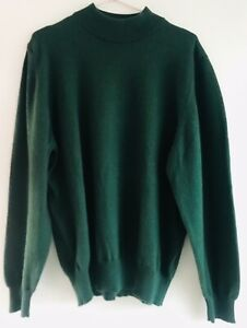 pull homme, 50% laine mérinos, taille S, couleur vert