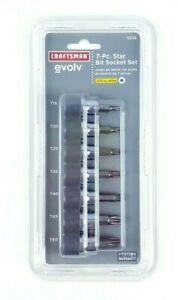 Craftsman Evolv 7 Piece 3/8 Inch Drive Star Torx Bit Socket Set T-15 to T-50