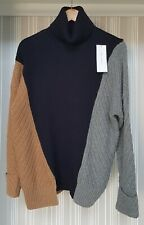 French Connection High Neck Oversized Knitted Jumper Cardigan, Small MultiColor