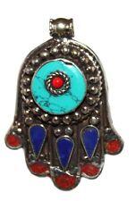 Turquoise pendant Lapis Pendant Hamsa Pendant Tibet Pendant Nepal Pendant B11