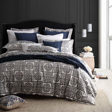 Florence Broadhurst Circles & Squares Silver Doona Quilt Cover Set 3 Sizes Queen Bed