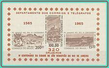 BRAZIL 1965 RIO de JANEIRO S/s SC#985a MNH NGAI CV$15.00 ARCHITECTURE