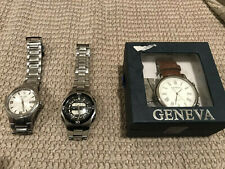 Lot of 3 Men's Watches - Bulova, Casio & Geneva  Pre-Owned