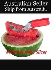 MAGIC MELON & Cake SLICER Knife Watermelon Server Cutter Scoop Stainless Steel