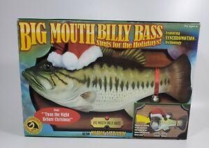 Vtg 2000 Big Mouth Billy Bass Gemmy Christmas Singing Fish Santa Hat Brand New!