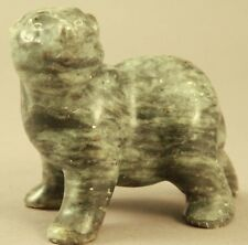 "Early Ron Ekemo Soapstone Bear Sculpture Signed Ekemo 1970's 3.25"" Tall"