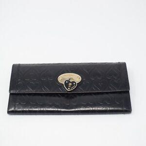 Lovecat Women Black Leather Wallet