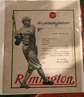 Babe Ruth 1921 Remington Advertisement 🔥 Scarce! Original! RARE!
