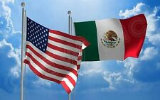 3x5FT Wholesale Combo USA American & Mexico Mexican 2 Flags Banner Grommets