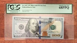 $100 Series 2009A  F2187-A. $100 FW *** STAR NOTE  ***68PPQ