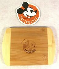 Disney World Food & Wine 2018 Passholder Mickey Mouse Cutting Board & Magnet Lot