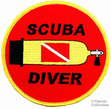 SCUBA DIVER EMBROIDERED DIVE TANK PATCH DIVING EMBLEM IRON-ON SOUVENIR GIFT