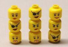 x9 NEW Lego Minifig HEADS Girl Woman Lady Minifigure Heads