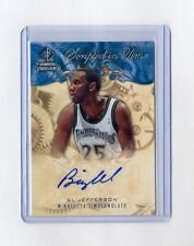 BIG AL JEFFERSON 2008-09 SP ROOKIE THREADS SCRIPTED IN TIME AUTO