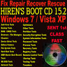Windows 7 ~ Vista ~ XP Repair Diagnose PC Laptop CD Recovery Restore PRO Hiren's