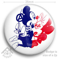 "Sex Pistols SEDITIONARIES Vivienne Westwood MICKEY & MINNIE MOUSE 25mm 1"" Badge"