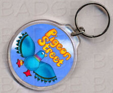 PIGEON STREET round keyring - DOUBLE SIDED!