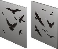 Fensteraufkleber, Fensterfolie, verschiedene Vögel,14 Stück, versch. Farben + Gr