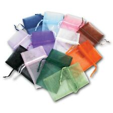 """LOT OF 12 SET ASSORTED POUCHES JEWELRY POUCHES LARGE ORGANZA POUCHES 5"""" X6"""" BAGS"""
