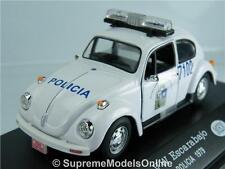 Vw Volkswagen Escarabajo Policía Policía 1979 coche 1/43rd Tamaño México Tipo y0675j ^ * ^