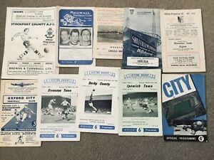60 Older Football Programmes Job Lot 1950's (x43) & 1960's (x17) @60+ Yrs Old