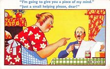 POSTCARD  COMIC   Wife  Piece  of  Mind  Small helping...