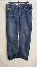 """See Thru Soul Jeans """"Most Wanted"""" Womens Size 28 Distressed Embroidery Denim"""