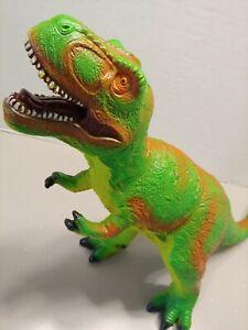"Tyrannosaurus T REX DINOSAUR TOY 13"" X 16"" ACTION FIGURE FLEXIBLE PLASTIC"