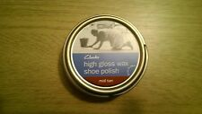 50ml Tin of Clarks High Gloss Wax Shoe Polish - Mid Tan