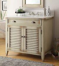 "36""  Most Popular Cottage look Abbeville Bathroom Sink Vanity # CF-28324CW"