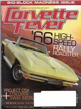 Corvette Fever Magazine Nov 2008 Issue '66 High Speed Rally Roadster Cover