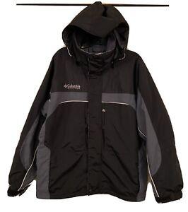 Mens Columbia Sportswear Jacket Black/Grey Size Med