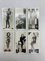 Lot Of 6 1939 Carreras Film And Stage Beauties Tobacco Cards #49 To #54 Run